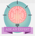 Picture of a brain with title ask an expert
