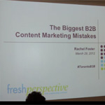 The Biggest B2B Content Marketing Mistakes [Video]