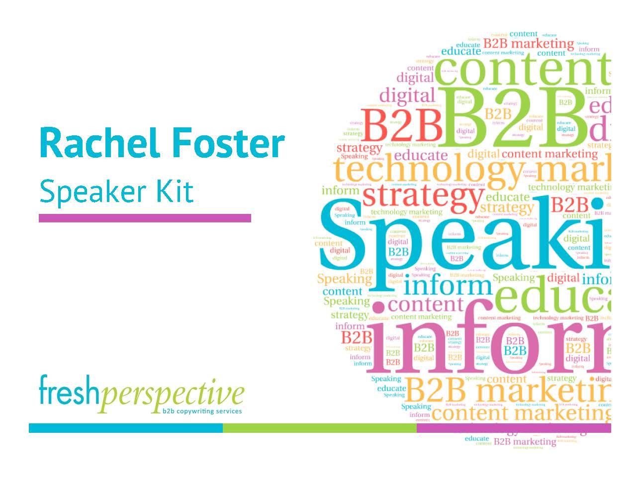 Rachel Foster - Speaker Kit