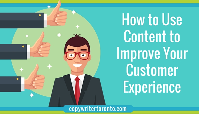 Happy customer with thumbs up and header How to Use Content to Improve Your Customer Experience