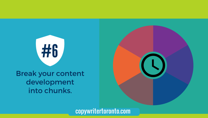 Break your content development into chunks: Image of graph