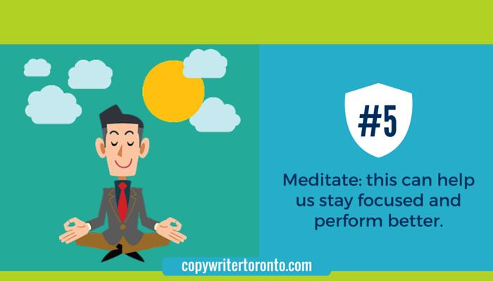 Meditation increases focus: image of man meditating