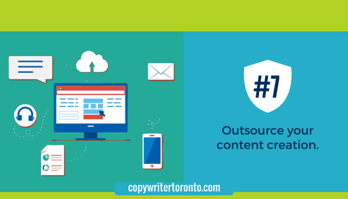 Outsource you content creation: Image of computer and web communications