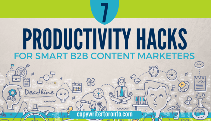 Title Image and illustration: Productivity Hacks for B2B Marketers