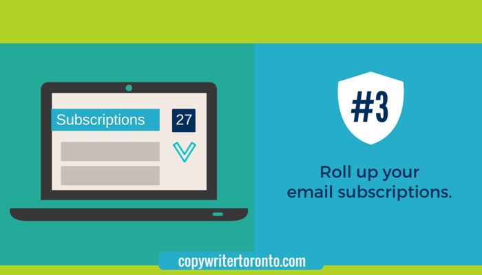 Roll up your email subscriptions: Illustration of email inbox