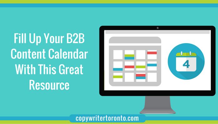 Fill Your B2B Content Calendar