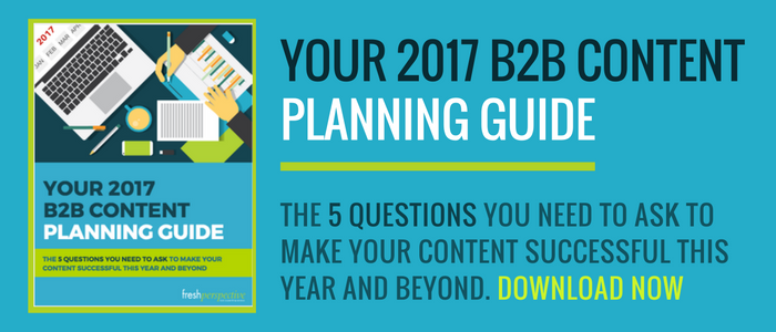 2017 b2b content planning guide
