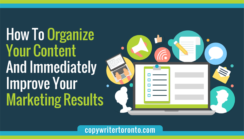 Header image that includes visualization of content marketing