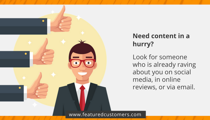 Image of customer and thumbs up